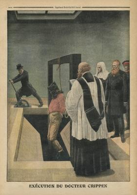 Execution of Doctor Crippen, illustration from 'Le Petit Journal', supplement illustre, 4th December 1910
