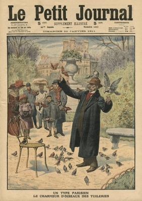 A Parisian type, the bird charmer of the Tuileries, illustration from 'Le Petit Journal', supplement illustre, 22nd January 1911