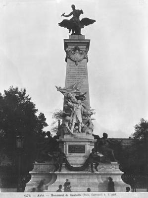 Monument to Leon Gambetta, central group, cour Napoleon, Louvre, 1888