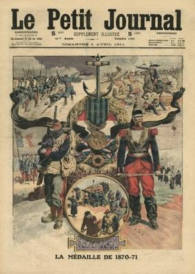 The Presentation of The Medal of Combatants 1870-71, illustration from 'Le Petit Journal', supplement illustre, 2nd April 1911
