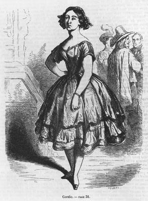 Coralie, illustration from 'Les Illusions perdues' by Honore de Balzac