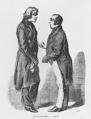 The Cointet brothers, illustration from 'Les Illusions perdues' by Honore de Balzac
