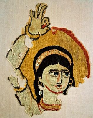 Head of a dancer, tapestry