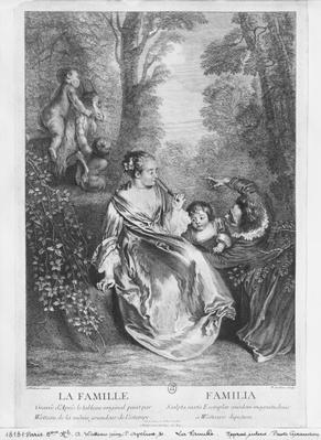 The Family, engraved by Pierre Aveline