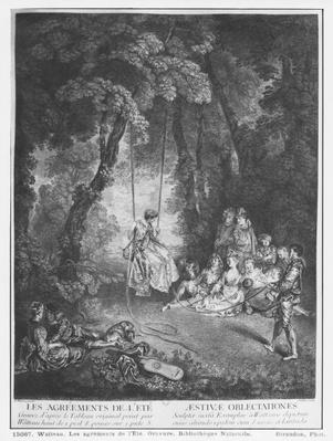 The pleasures of summer, engraved by Francois Joullain