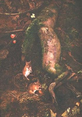 Field Mice at the Foot of a Tree, 1876