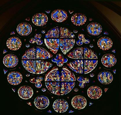 Rose window depicting the Last Judgement