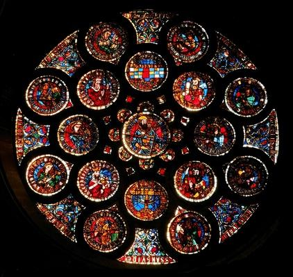 Rose window depicting the Old Covenant, c.1235