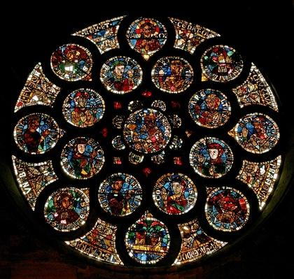 Rose window depicting the New Covenant, c.1235