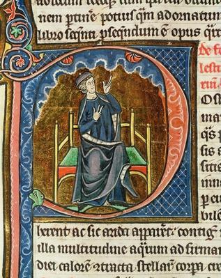 Computing the liturgical calendar, from 'Le Miroir de la Nature' by Vincent de Beauvais