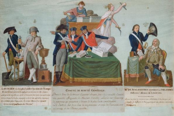 Lavoisier, the Comite de Surete Generale and Malesherbes, 18th century