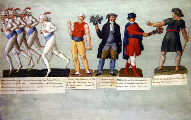 Athletes and participants in festivals during the French Revolutionary period