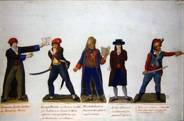 Jacobins and terrorists at the period of the Reign of Terror