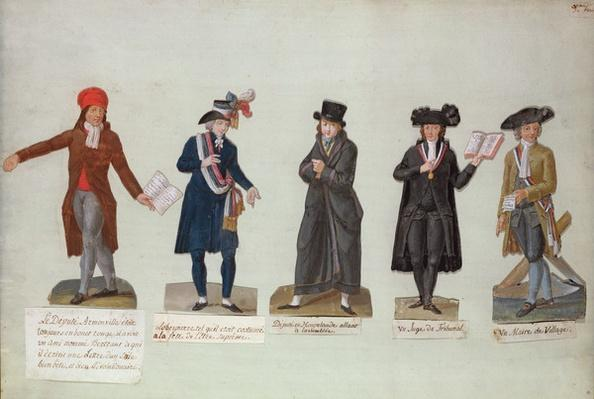 Deputy Armonville, Robespierre and officials form the period of the French Revolution