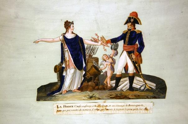 'France entrusts her forces to Prudence and to the courage of Bonaparte. c.1800