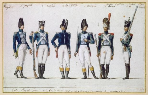 French Royal Guard, 1816