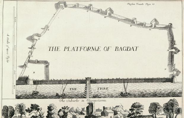 Plan of Baghdad, from an English translation of 'Les Six Voyages de J.B. Tavernier'