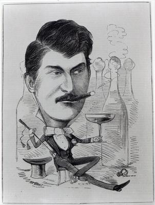 George Leybourne, The Original 'Champagne Charlie', illustration from 'The Entr'acte', August 24th 1872