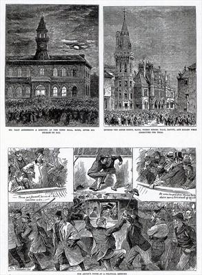 The Agitation in Ireland, illustrations from 'The Graphic', December 6th 1879