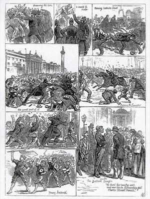Irish Land League Agitation, illustrations from 'The Illustrated London News', October 29th 1881