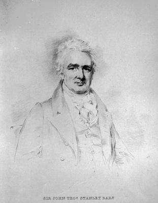 Sir John Thomas Stanley Bart, 1st Lord Stanley of Alderley, engraved by Isaac W. Slater