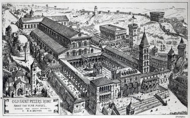 View of Old St.Peter's, Rome, 1891