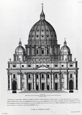St. Peter's, Rome, engraved by C. Campbell