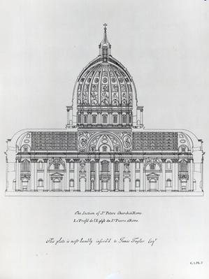 A cross-section of St. Peter's, Rome