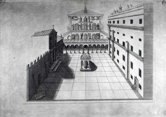 The Belvedere Court in Old St. Peter's Rome