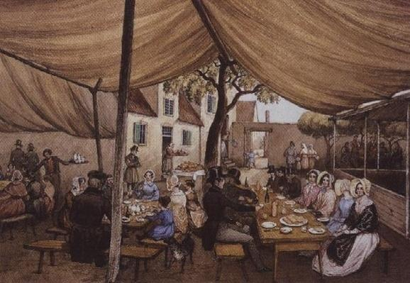 An Outdoor Cafe in Germany, probably at Speyer