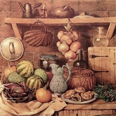 Still life with Christmas Food
