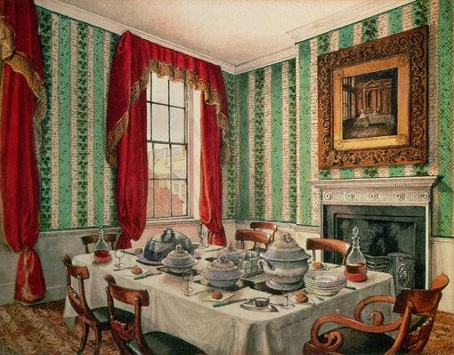 Our Dining Room at York, 1838