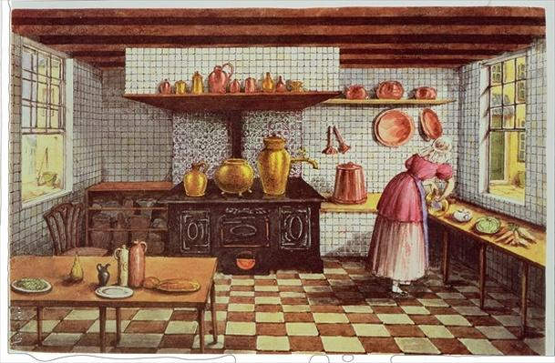 Kitchen of the Hotel St.Lucas, in the Hoogstraat, Rotterdam, 1834