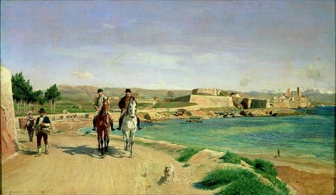 Antibes, the Horse Ride, 1868