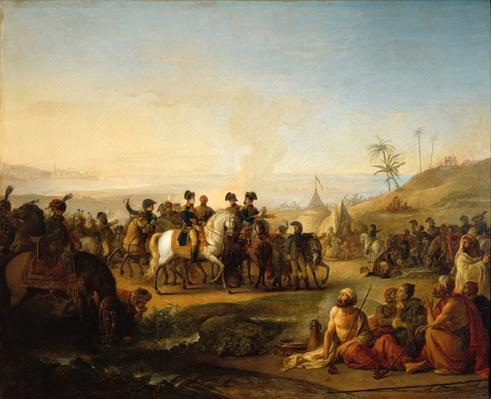General Bonaparte visiting the fountains of Moses, near Sinai, 28 December 1798