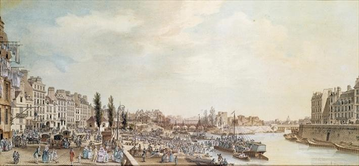 View of the Port Saint-Paul, Paris, 1782