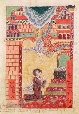 Ms 501 Vision of St. Aldegonde of Maubeuge, from 'The Life and Miracles of St. Amand'