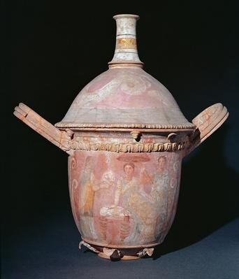 Pot with a scene of women bathing