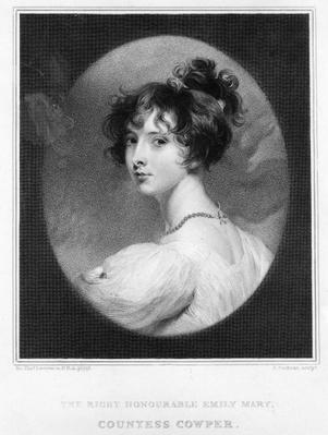 Emily Mary, Countess Cowper