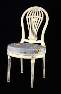 Chair with back in the shape of a Montgolfiere, 18th century