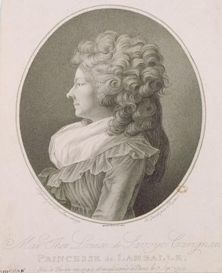 Marie Therese Louise de Savoie-Carignan by Danloux, Henri-Pierre (1753-1809)