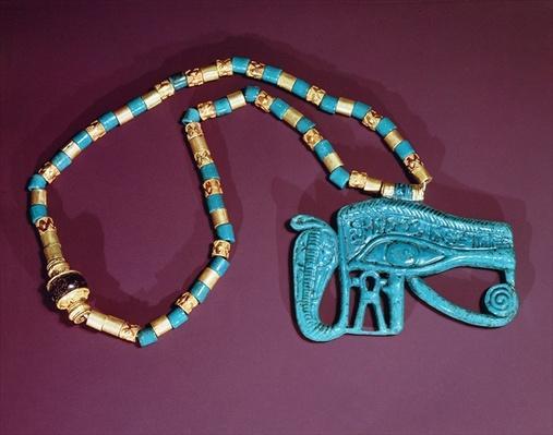 Eye of Ra pectoral, from the Tomb of Tutankhamun, New Kingdom