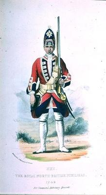 A Private in the Royal North British Fusiliers in 1742, for 'Cannon's Military Records'