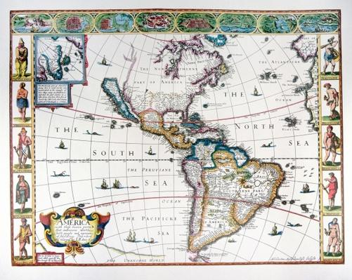 Map of the Western Hemisphere in 1626