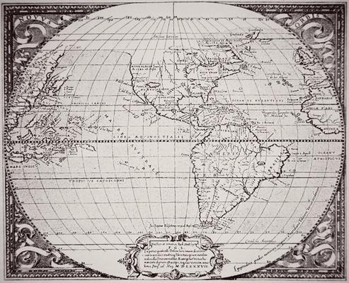 Map of the New World 1587