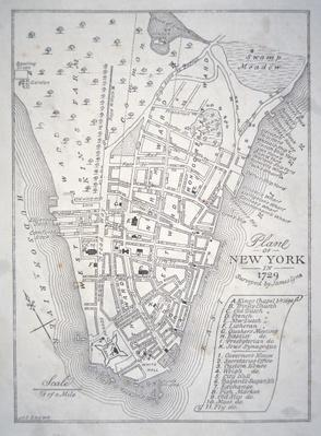 Plan of New York in 1729
