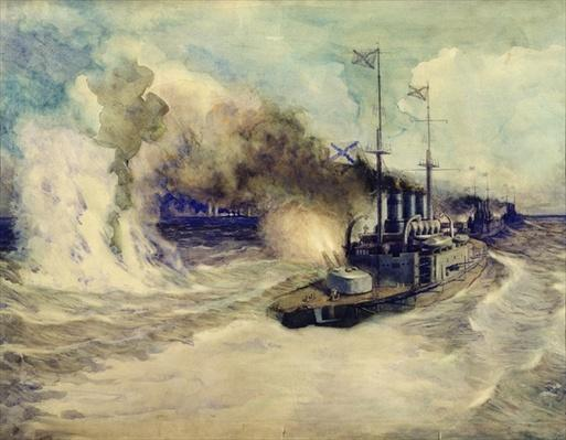 The battle between the Black Sea Fleet and the armoured cruiser Goeben on the 5th November 1914, 1940