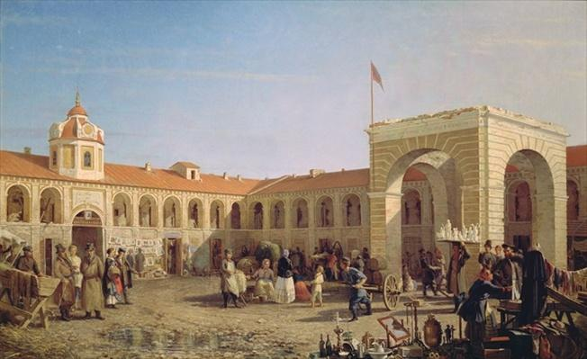 Apraksin Market in St. Petersburg, 1862