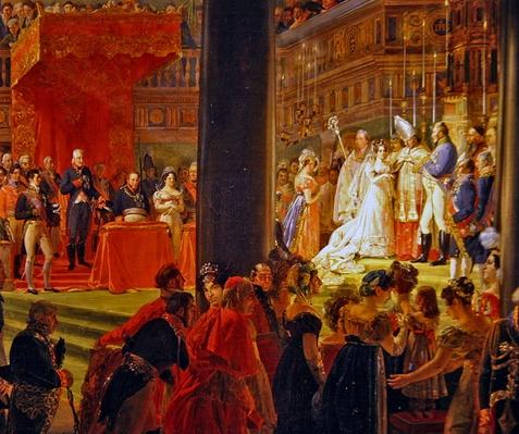 The Marriage of Marie-Caroline de Bourbon, Princess of the Two Sicilies and Charles-Ferdinand de France, Duke of Berry on June 17, 1816