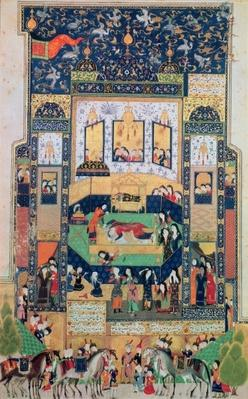 The Death of Shirin, illustration to 'Khosro and Shirin' by Elias Nezami